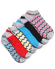 Women - Tribal Aztec 6Pk No Show Socks