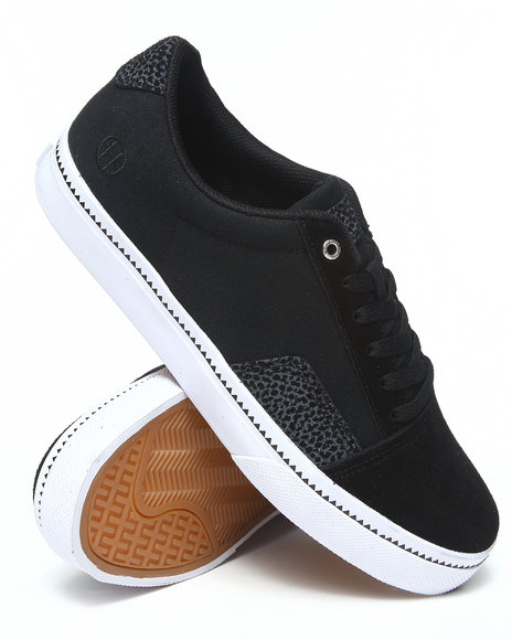 HUF Animal Print,Black Southern Suede/Canvas Sneakers