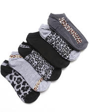 Women - Jungle Fever 6Pk No Show Socks