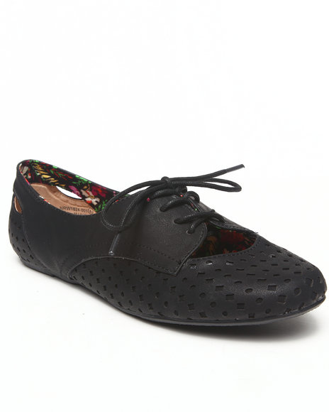Not Rated - Women Black Laser Cut Jazz Oxford