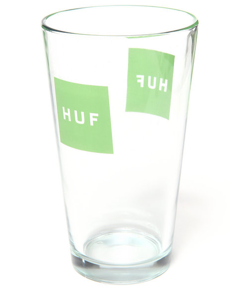 Huf Men Box Logo Pint Glass Clear