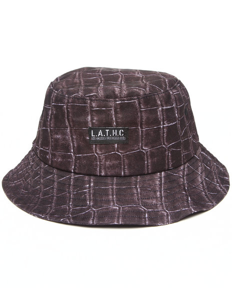 L.A.T.H.C. - Men Multi Gator Skin Bucket Hat