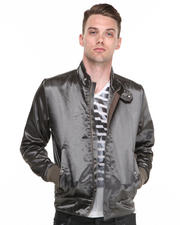 G-STAR - Silver Liquid Sateen Moto Jacket