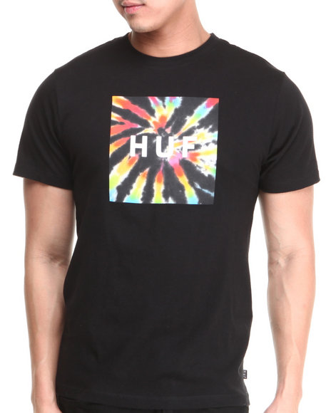 HUF Black Box Logo Fill Tie Dye Tee