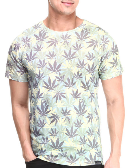 L.A.T.H.C. Green Weed Camo Tee