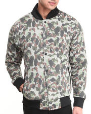 Buyers Picks - Camo Fleece Varsity Jacket