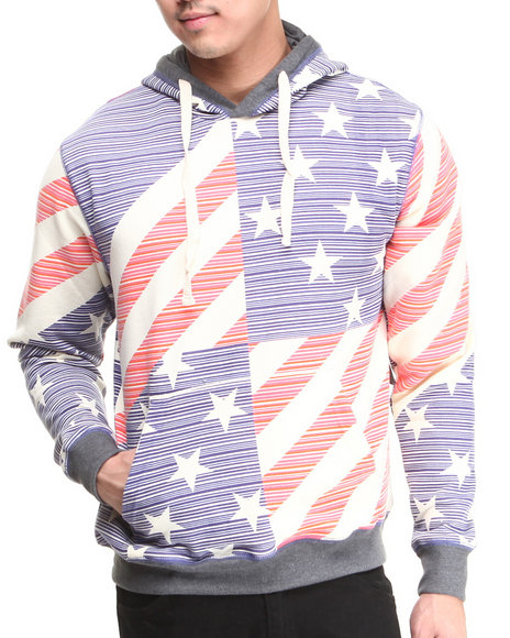 Buyers Picks - Men Multi Americana Hoodie - $29.99