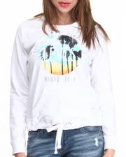 Women - Distressed Pullover Palms Hoodie