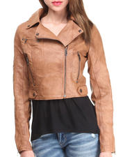 Outerwear - Light Weight Vegan Leather Jacket