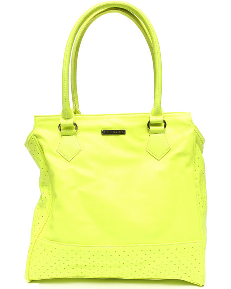 Rampage City Perforated Tote Lime Green