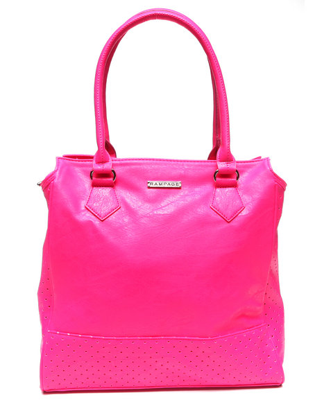 Rampage City Perforated Tote Pink