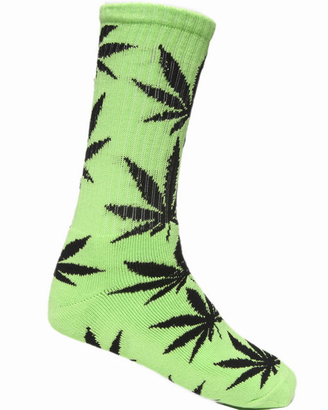 Huf Men Plantlife Crew Socks Green