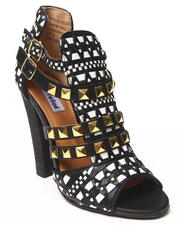 Not Rated - Braided Studded Mod Vegan Leather Heel