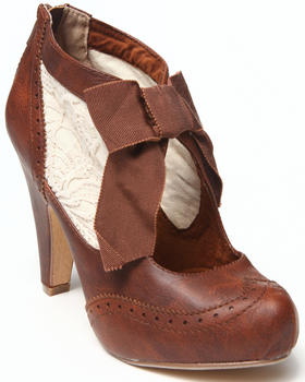 Not Rated - Crochet Inset Oxford Heel