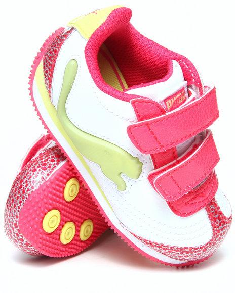 Puma Girls Pink Speeder Illuminescent Glamm Sneakers (5-10)