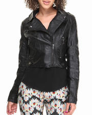 Fashion Lab - Light Weight Vegan Leather Jacket