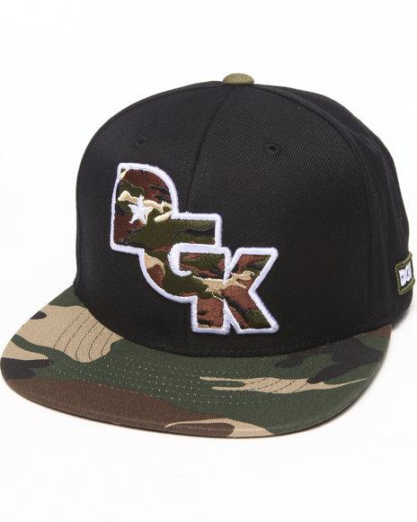 Dgk Stagger Snapback Cap Black