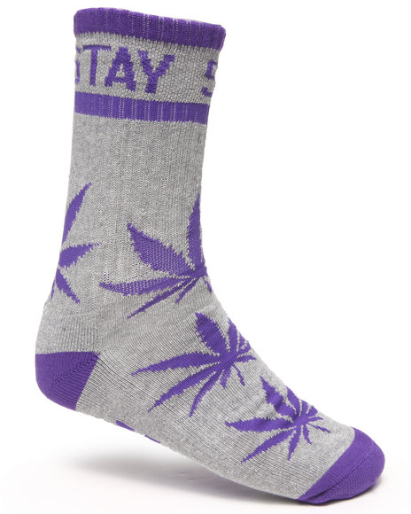 Dgk Stay Smokin Crew Socks Grey
