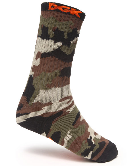 Dgk Assault Crew Socks Camo