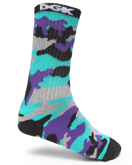 Dgk Assault Crew Socks Purple