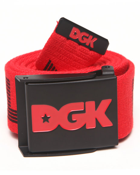 Dgk Standard Issue Scout Belt Red