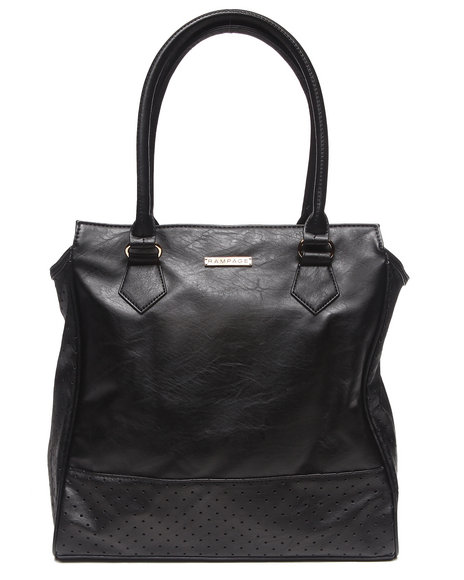 Rampage Women City Perforated Tote Black - $24.99