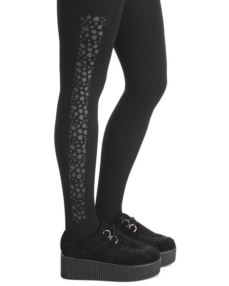 Rampage Women Cheetah Fleece Lined Legging Black - $3.99