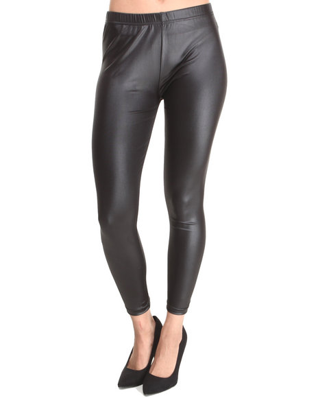 Rampage - Women Black Vegan Leather Legging - $9.99