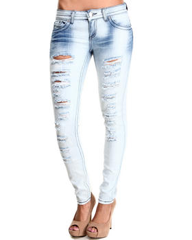 Almost Famous - Slashes Bleached Skinny Jean