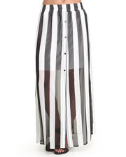 Bottoms - Mod Stripe Maxi Skirt