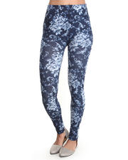 Women - Denim Rose Sublimation Print Legging