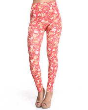 Women - Cabbage Rose Print Legging