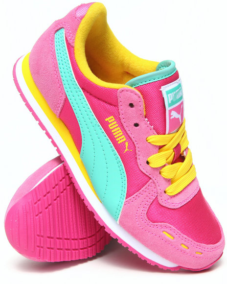 Puma Girls Pink Cabana Racer Mesh Jr. Sneakers (11-7)