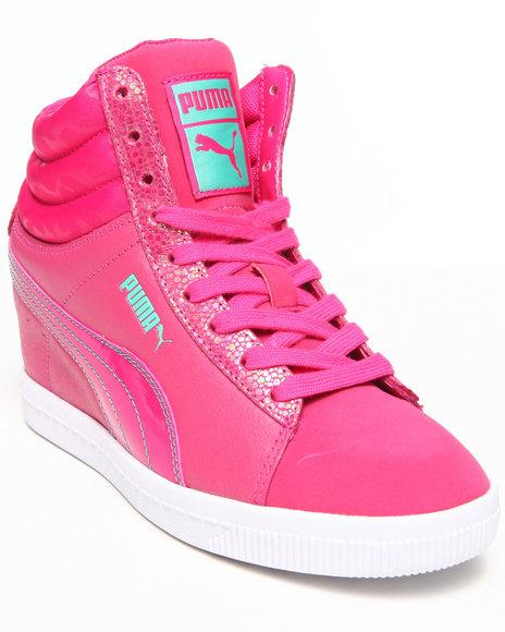 Puma Girls Pink Puma Classic Wedge Lux Jr (4-7)