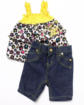 Apple Bottoms - 2 PC SET - TIERED TOP & JEANS (INFANT)