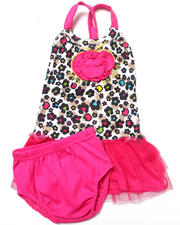 Sets - LEOPARD PRINT TUTU DRESS (NEWBORN)