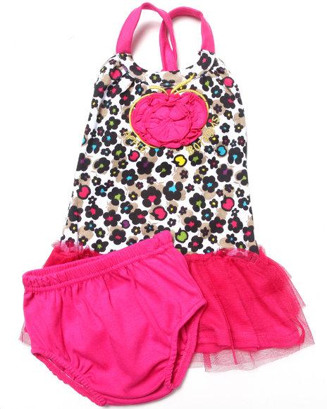Apple Bottoms Girls Pink Leopard Print Tutu Dress (Newborn)