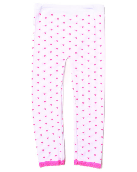 La Galleria Girls Neon Hearts Seamless Leggings (7-16) White
