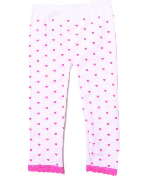 La Galleria Girls Neon Hearts Seamless Leggings (4-6X) White