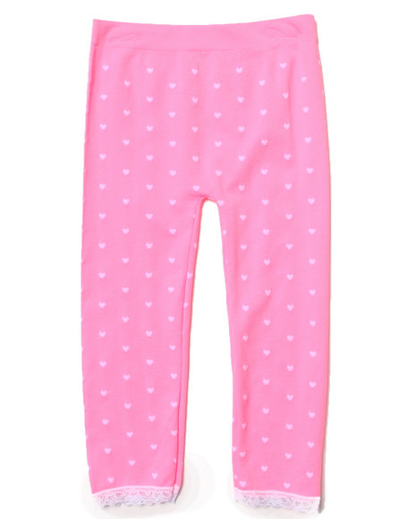 La Galleria Girls Neon Hearts Seamless Leggings (4-6X) Pink