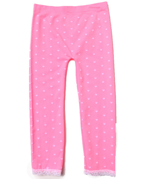 La Galleria Girls Neon Hearts Seamless Leggings (7-16) Pink