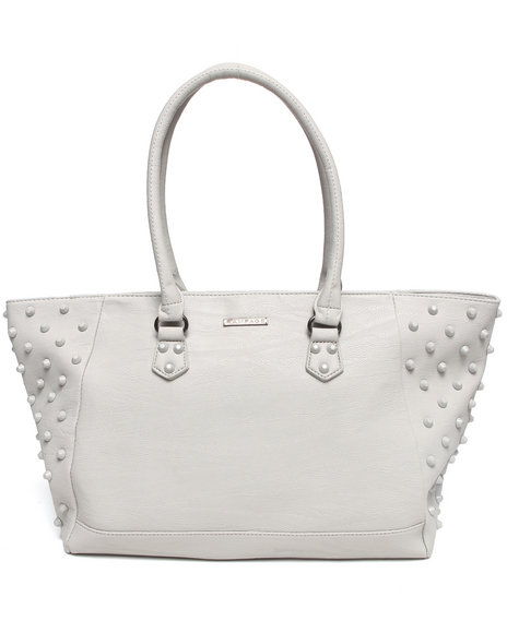 Rampage Women Enamel Studded Tote Grey - $23.99
