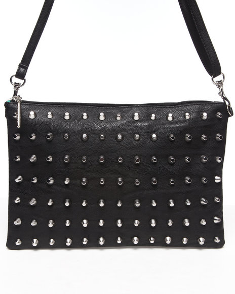 Rampage Black All-Over Studded Crossbody