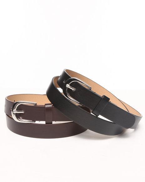 Rampage Black,Brown Pant Duo Belt Set