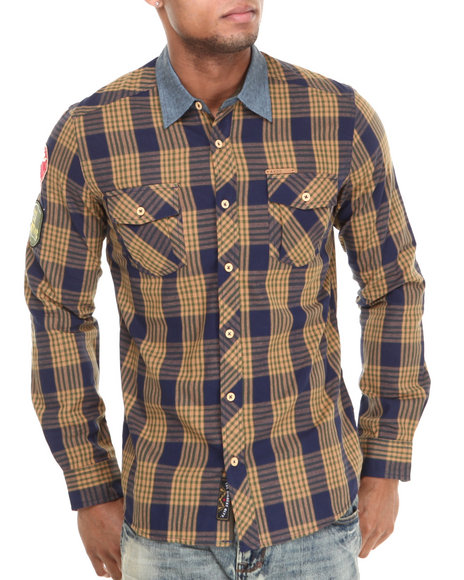 Akoo - Men Navy Inwood Park L/S Button-Down