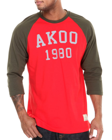 AKOO Red Bear Creek 3M Reflective Raglan Tee