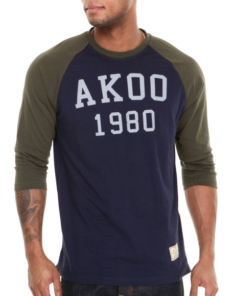 AKOO Navy Bear Creek 3M Reflective Raglan Tee