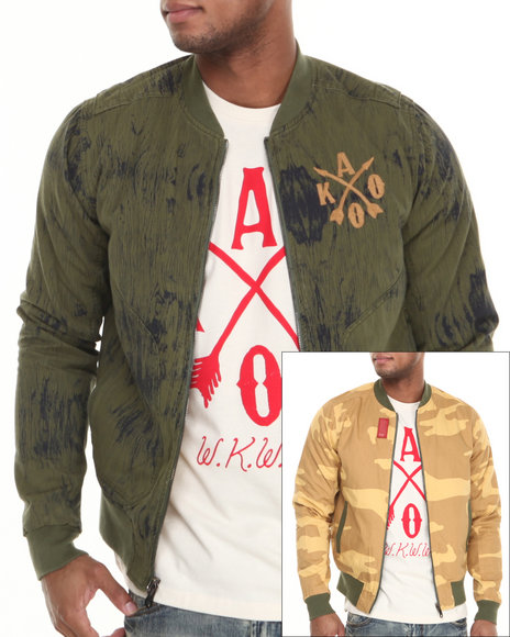 AKOO Camo Nocturnal Reversible Bomber Jacket