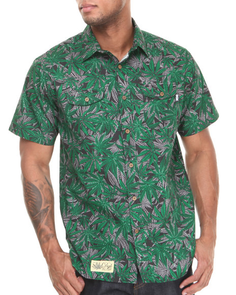 DGK Black,Green Home Grown S/S Button-Down
