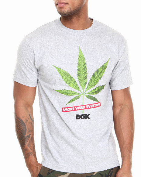 Dgk - Men Grey Smoke Weed Every Day Tee